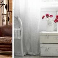 красивый интерьер квартиры со старыми чемоданами картинка