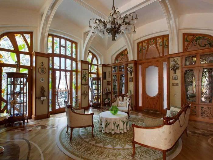 необычный декор спальни в стиле модерн