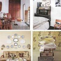 необычный дизайн гостиной со старыми чемоданами картинка