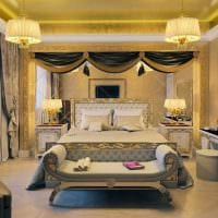 оригинальный дизайн спальни в стиле ампир картинка