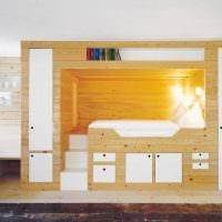 светлый дизайн спальной комнаты фото