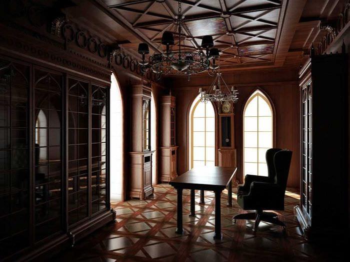 яркий фасад квартиры в готическом стиле
