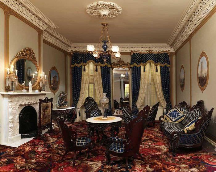 необычный интерьер квартиры в готическом стиле