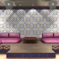 современный стиль гостиной в восточном стиле фото
