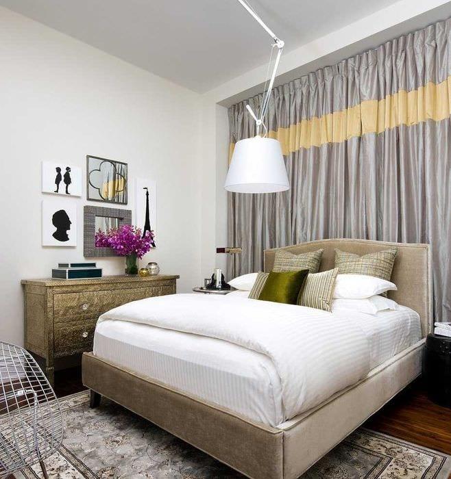 красивый фасад спальной комнаты