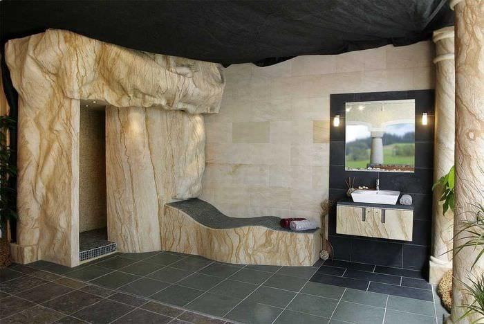 необычный гибкий камень в декоре квартиры