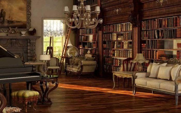 яркий стиль квартиры в викторианском стиле