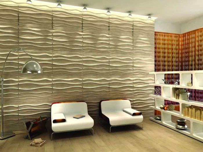 необычный декор квартиры со стеновыми панелями