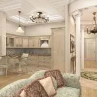 красивый дизайн спальни в греческом стиле картинка