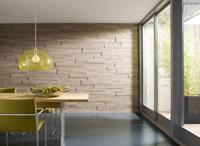 яркий дизайн спальни со стеновыми панелями
