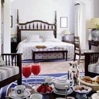 оригинальный интерьер спальни в средиземноморском стиле картинка