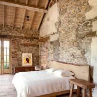 необычный декор спальни в стиле рустик картинка