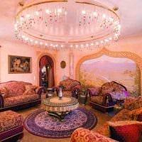 яркий дизайн комнаты в восточном стиле картинка