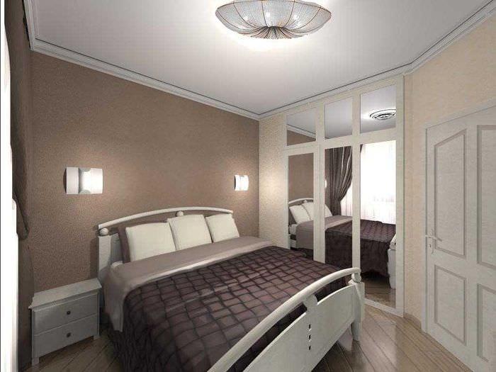 светлый дизайн спальной комнаты