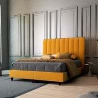 необычный дизайн комнаты в горчичном цвете фото