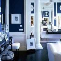 яркий дизайн спальни в греческом стиле картинка