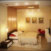 яркий дизайн спальни фото