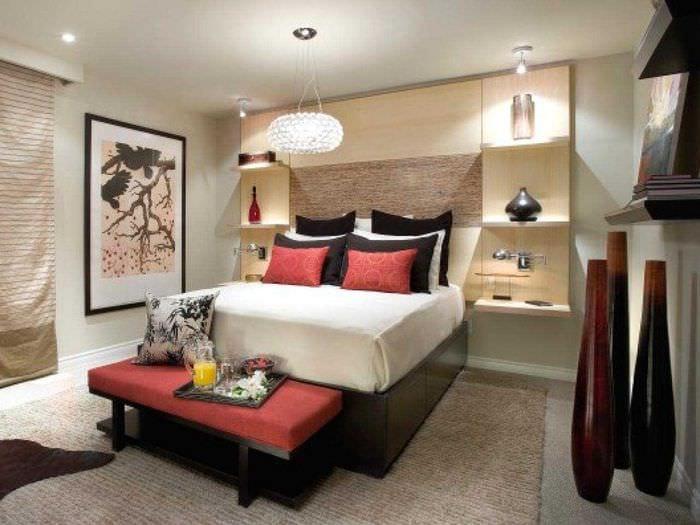 яркий стиль спальной комнаты