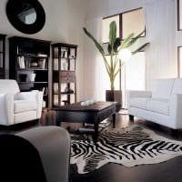 необычный темный пол в декоре квартиры картинка