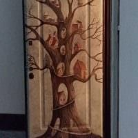 необычное оформление дверей своими руками картинка