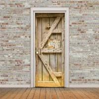 оригинальное украшение межкомнатных дверей своими руками фото