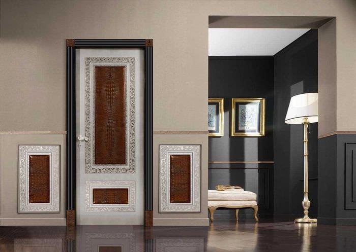 необычное декорирование дверей своими руками