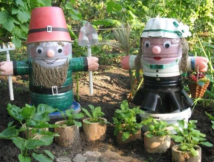 яркое оформление сада своими руками