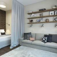 красивый дизайн спальни и гостиной в одной комнате фото