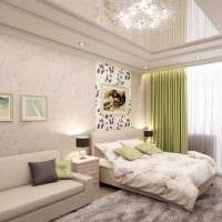 яркий декор спальни гостиной картинка