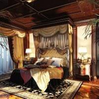 оригинальный декор спальни в стиле ампир картинка