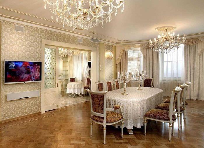 оригинальный декор комнаты в стиле ампир
