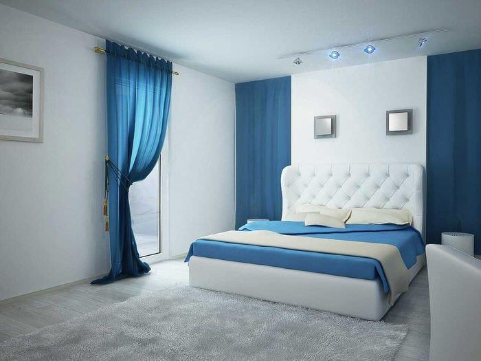 необычный интерьер спальной комнаты