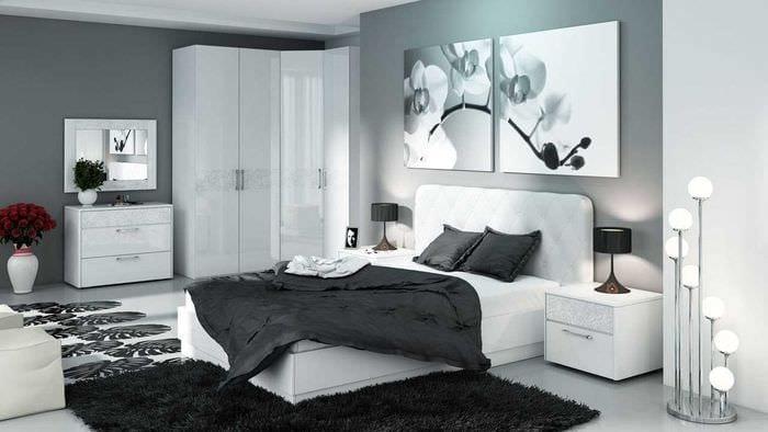 светлый декор спальни
