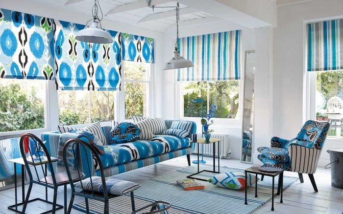красивый декор спальни в голубом цвете