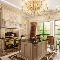 оригинальный декор гостиной в стиле ампир фото