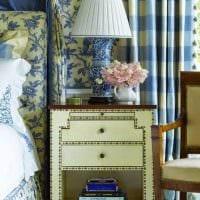 красивый дизайн спальни в голубом цвете картинка