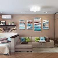 светлый декор гостиной спальни фото