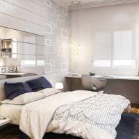 яркий интерьер спальни картинка