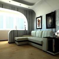 яркий декор гостиной спальни фото