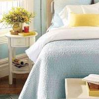 светлый стиль комнаты в голубом цвете картинка