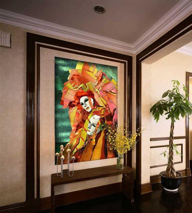 мозаичный витраж в стиле комнаты