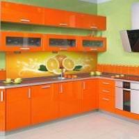 сочетание темного оранжевого в декоре квартиры с другими цветами картинка