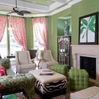 сочетание темного розового в дизайне квартиры с другими цветами картинка