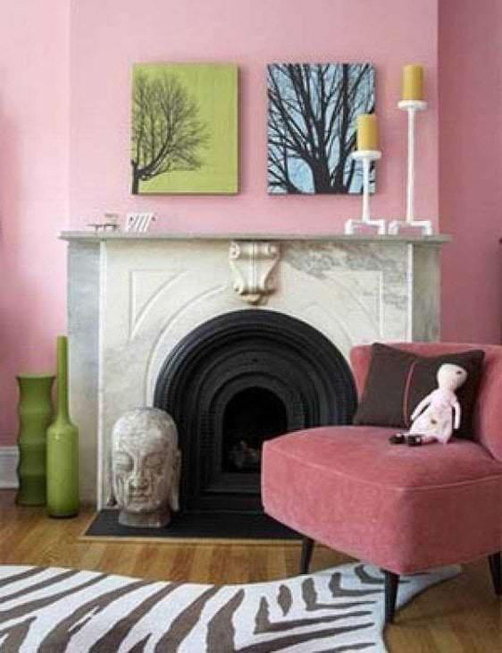 сочетание яркого розового в стиле кухни с другими цветами