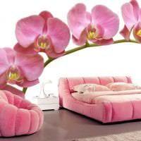 сочетание светлого розового в стиле спальни с другими цветами картинка