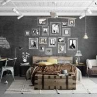 сочетание яркого серого цвета в интерьере квартиры картинка