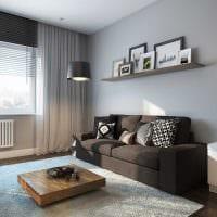 сочетание яркого серого цвета в стиле спальни фото