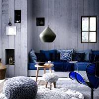 сочетание светлого серого цвета в интерьере гостиной фото