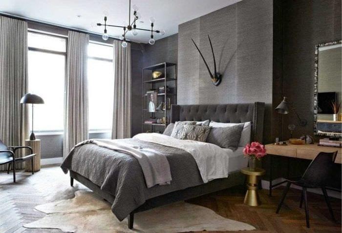 сочетание яркого серого цвета в декоре квартиры