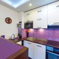 сочетание светлых цветов в фасаде кухни фото
